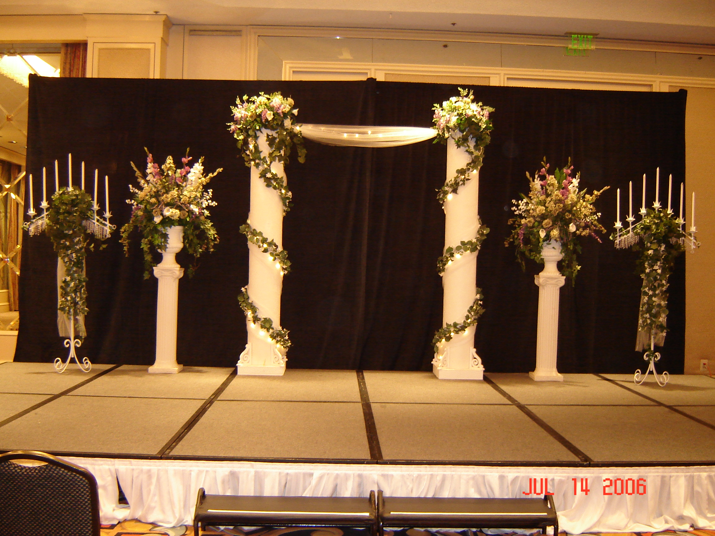 for county drapes draping black orange rental los sale drape in pipe img and