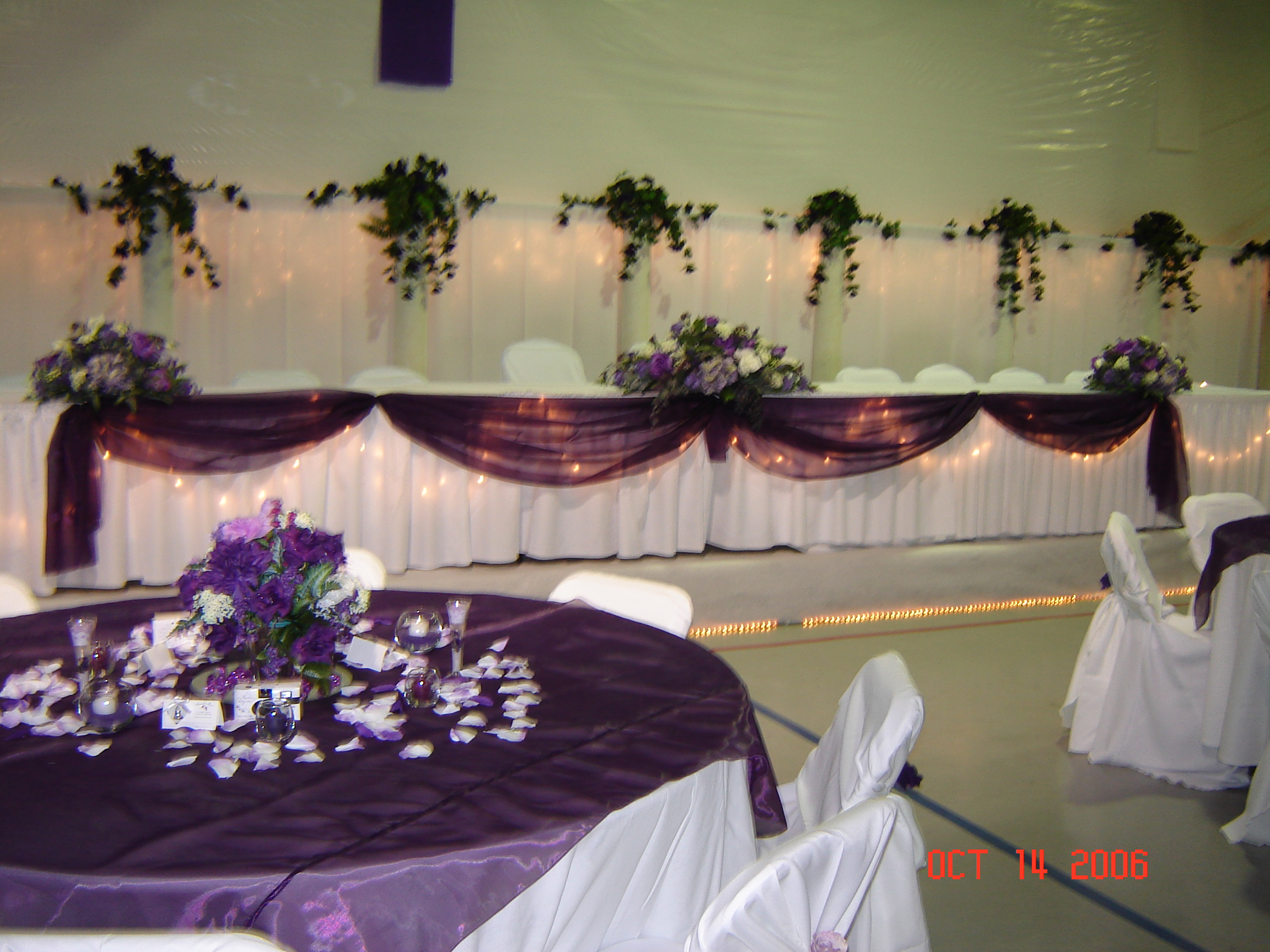 simply elegant weddings table swags linen rentals fort worth