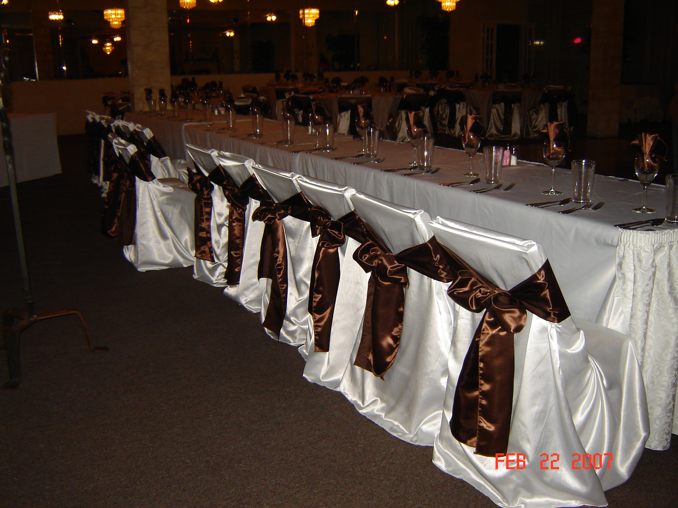 Simply Elegant Weddings Chair Cover Rentals wedding rentals