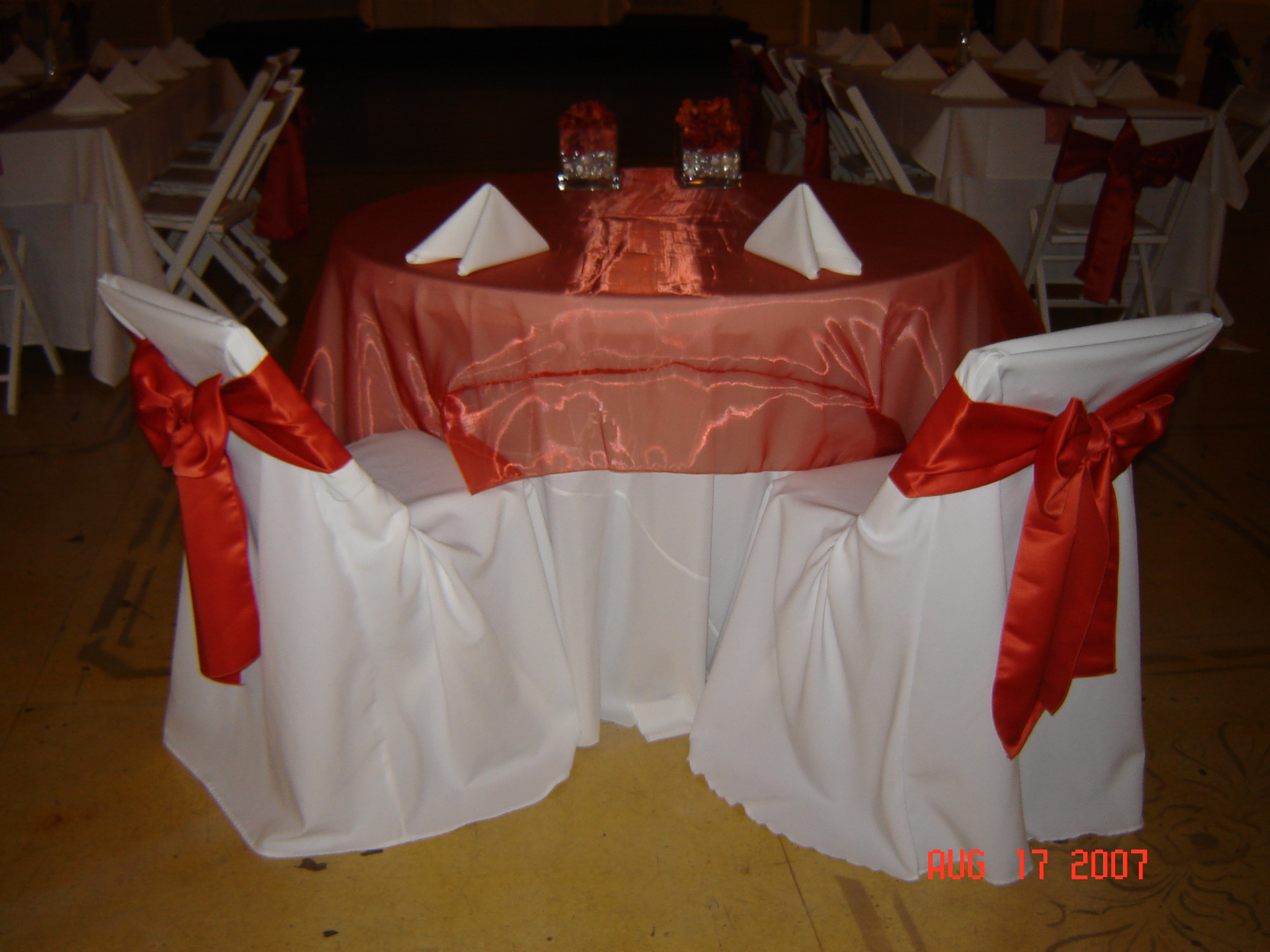 Organza Overlays Can Also Be Used To Scrunch On Top Of Your Table To Accent  Your Cake Or Food