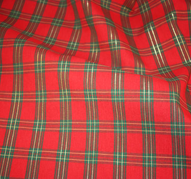 Simply Elegant Weddings-Christmas Plaid Linen rentals