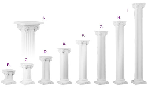 Simply Elegant Weddings Columns And Balustrade Rentals Colonnade Groups Urns White Ivory Grecian Empire